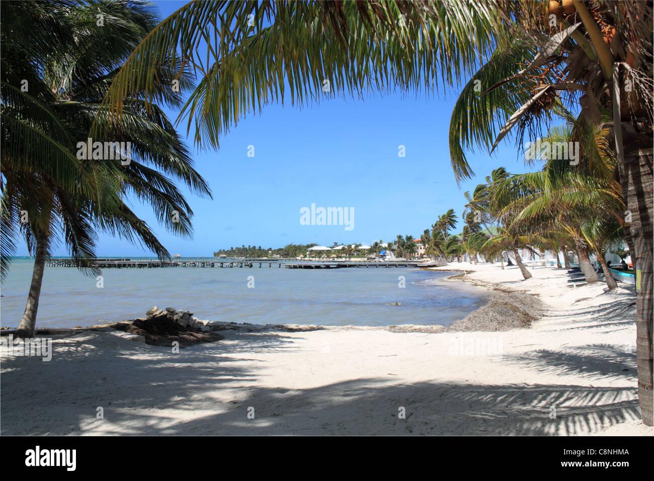 Banyan Bay Villas, San Pedro, Ambergris Caye (aka La Isla Bonita/The Beautiful Island), Barrier Reef, Belize, Caribbean, - Stock Image
