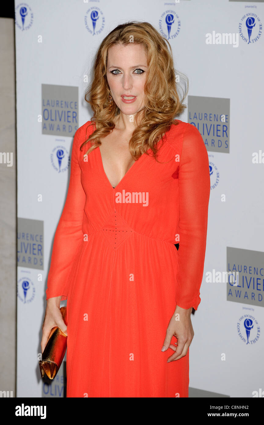 Gillian Anderson at the 'Laurence Olivier Awards', Grosvenor House Hotel, London, 21st March 2010. - Stock Image