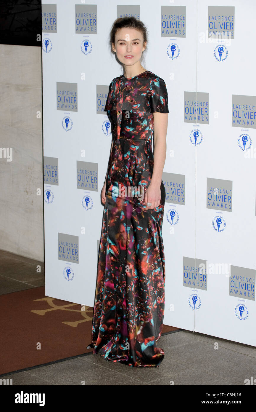 Keira Knightley at the 'Laurence Olivier Awards', Grosvenor House Hotel, London, 21st March 2010. - Stock Image