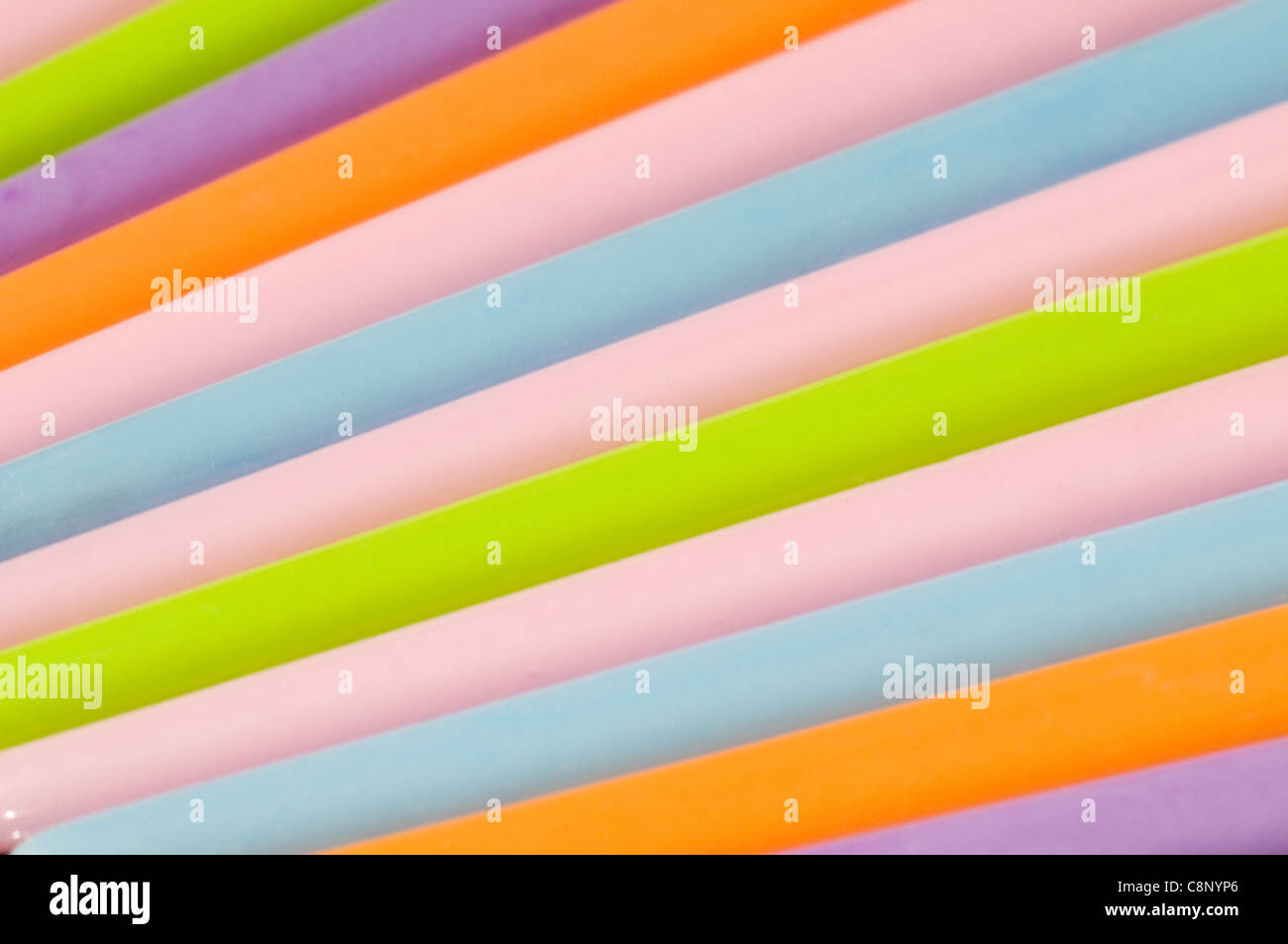 Plastic hair pins in studio setting Stock Photo