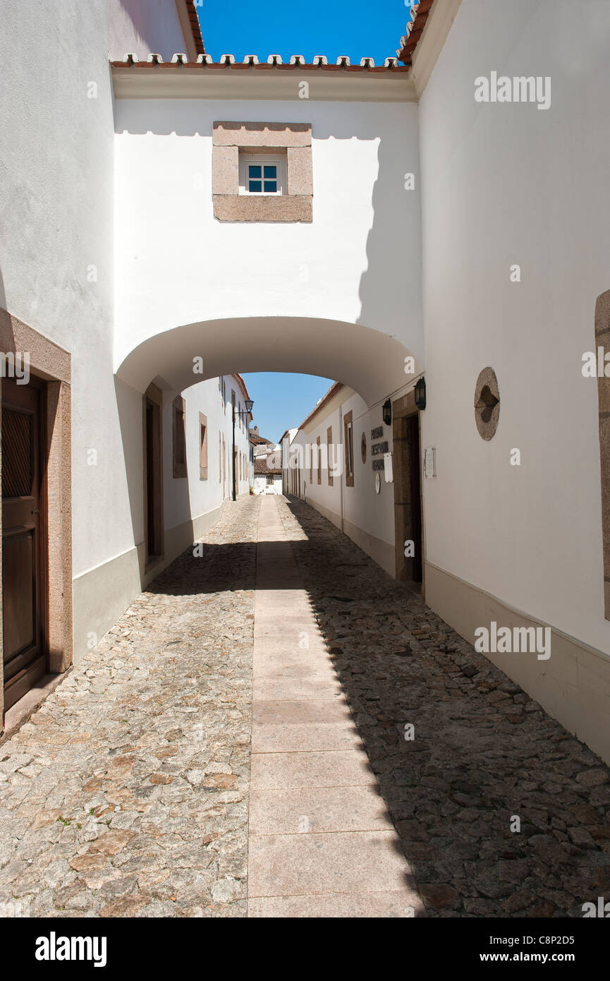 Marvao, Typical street, Alentejo, Portugal - Stock Image