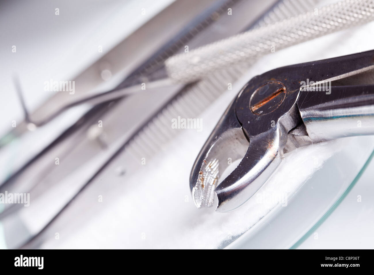 dentistry equipment and dental care - Stock Image