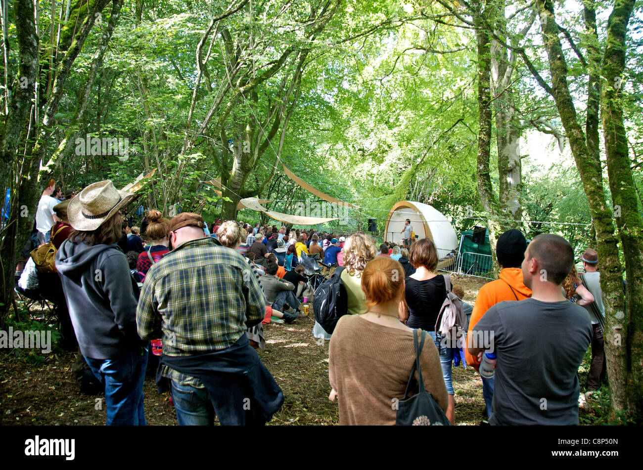 The Comedy stage at  the End of the Road Festival 2011 - Stock Image