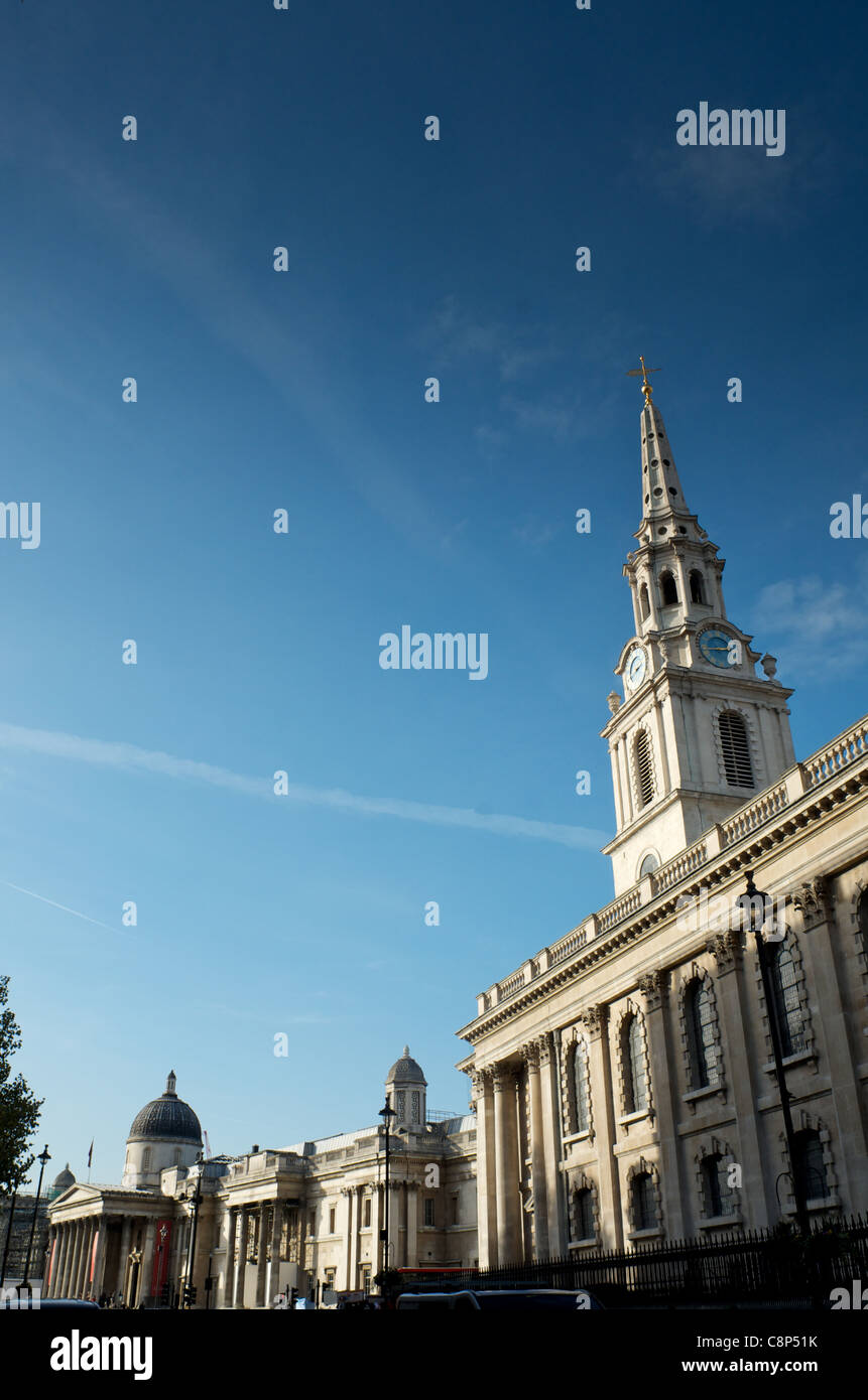 St. Martin-in-the-Field, Charing Cross Road, London - Stock Image