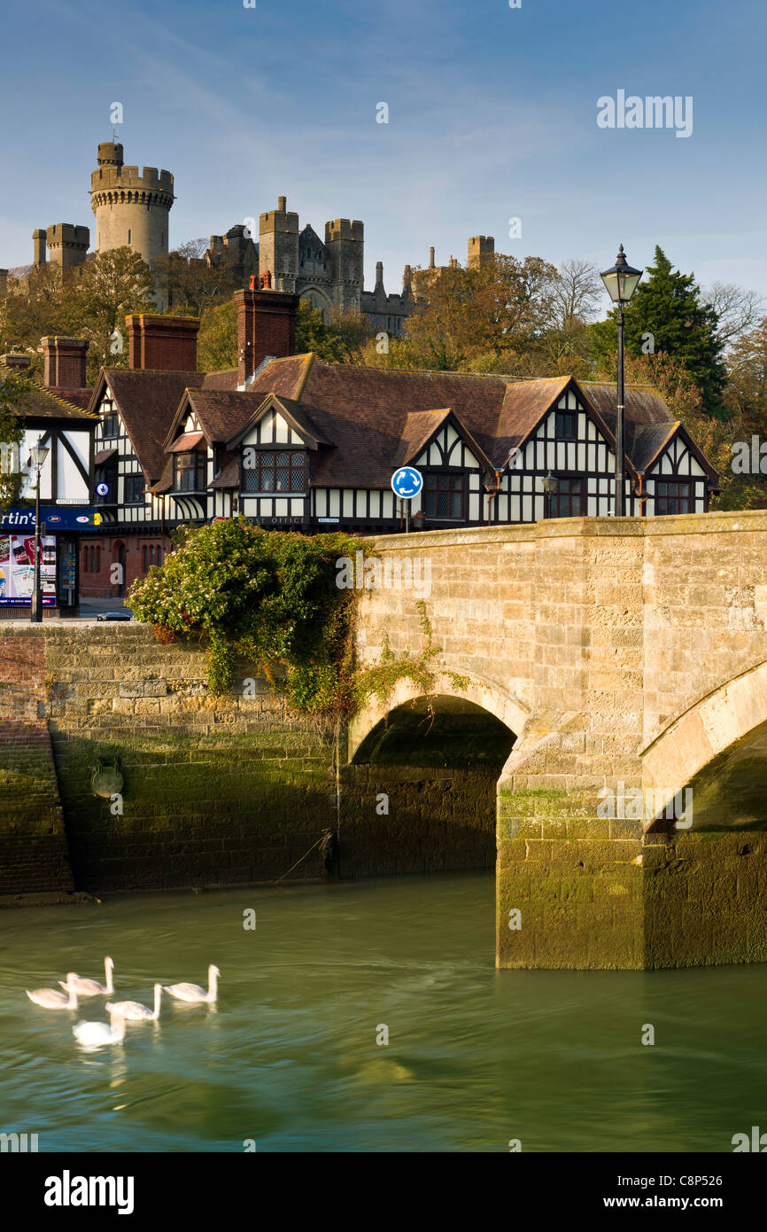 The West Sussex Market Town of Arundel - Stock Image