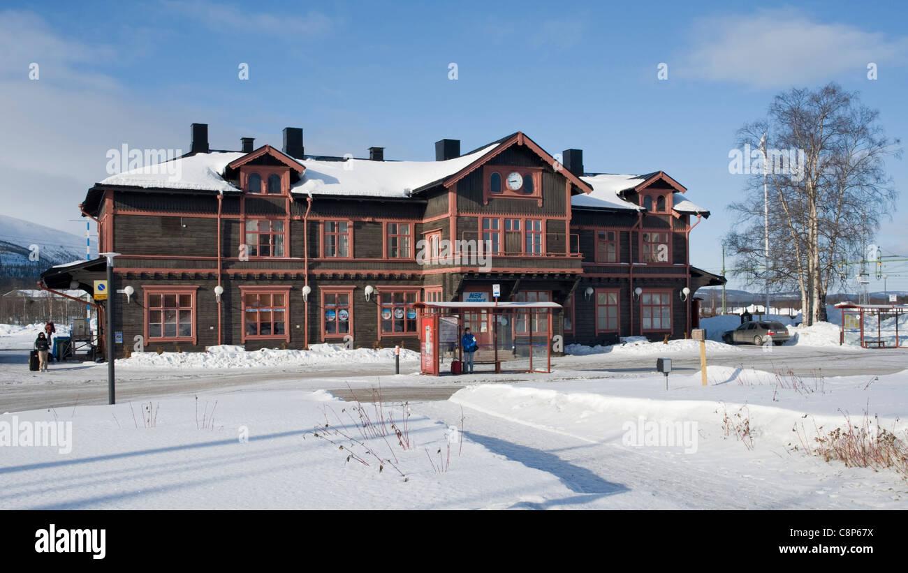 Gällivare train station - Stock Image