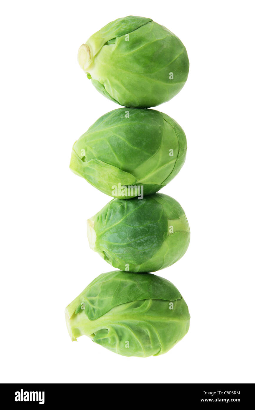 Stack of Brussel Sprouts - Stock Image