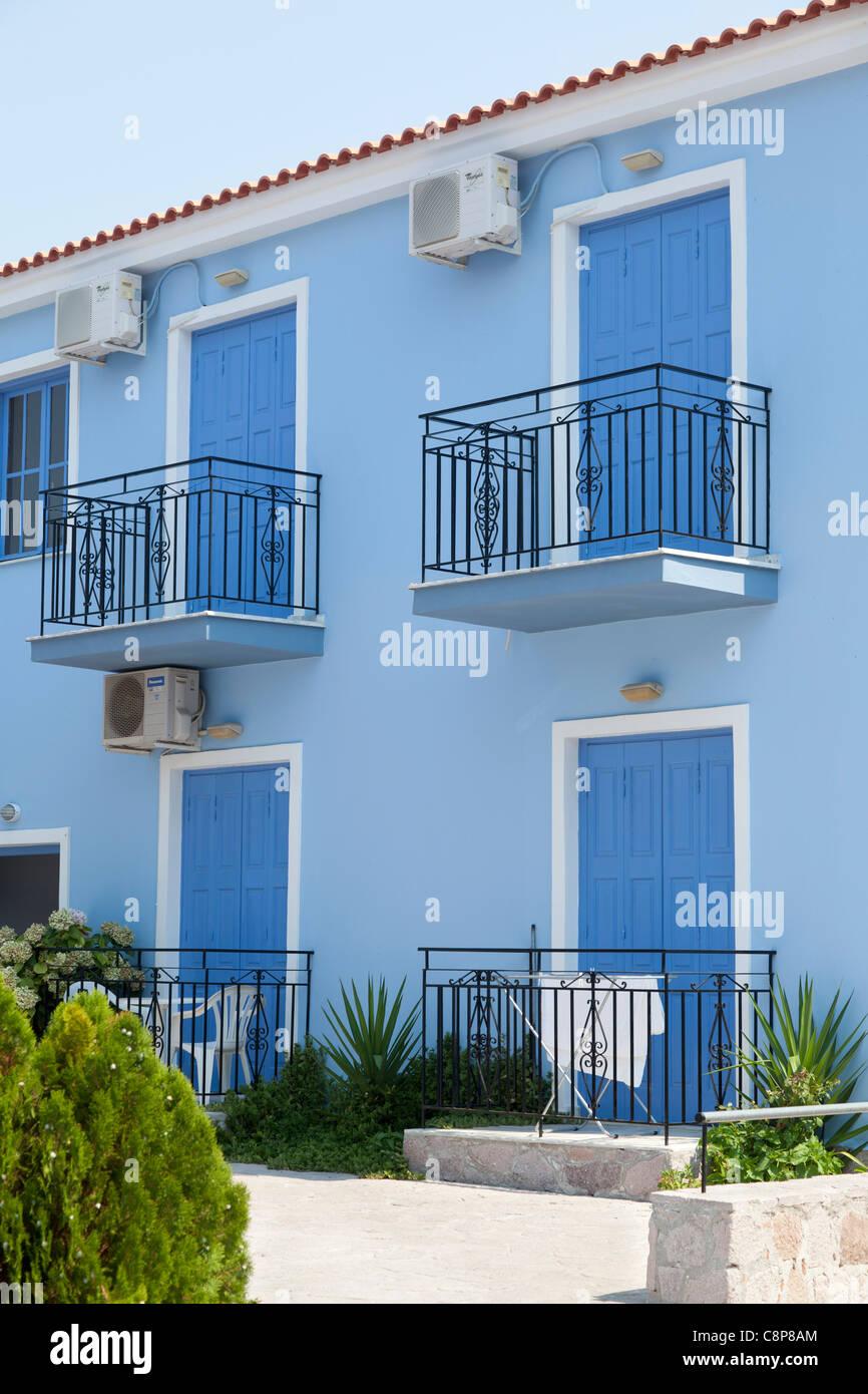 Apartments at Lesbos, Greece - Stock Image