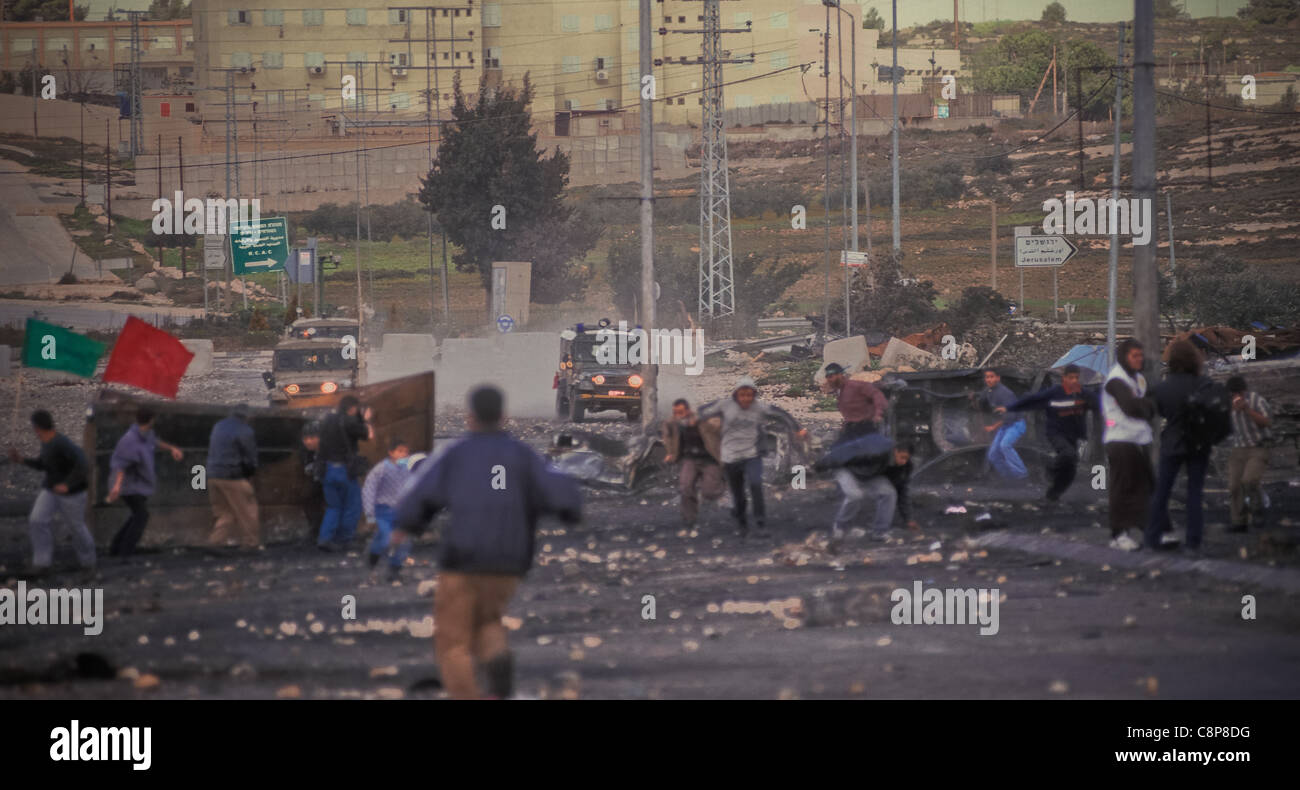RAMALLAH Friday of Intifada, RAMALLAH Friday of Intifada That evening at the end of the conflict of the day the - Stock Image