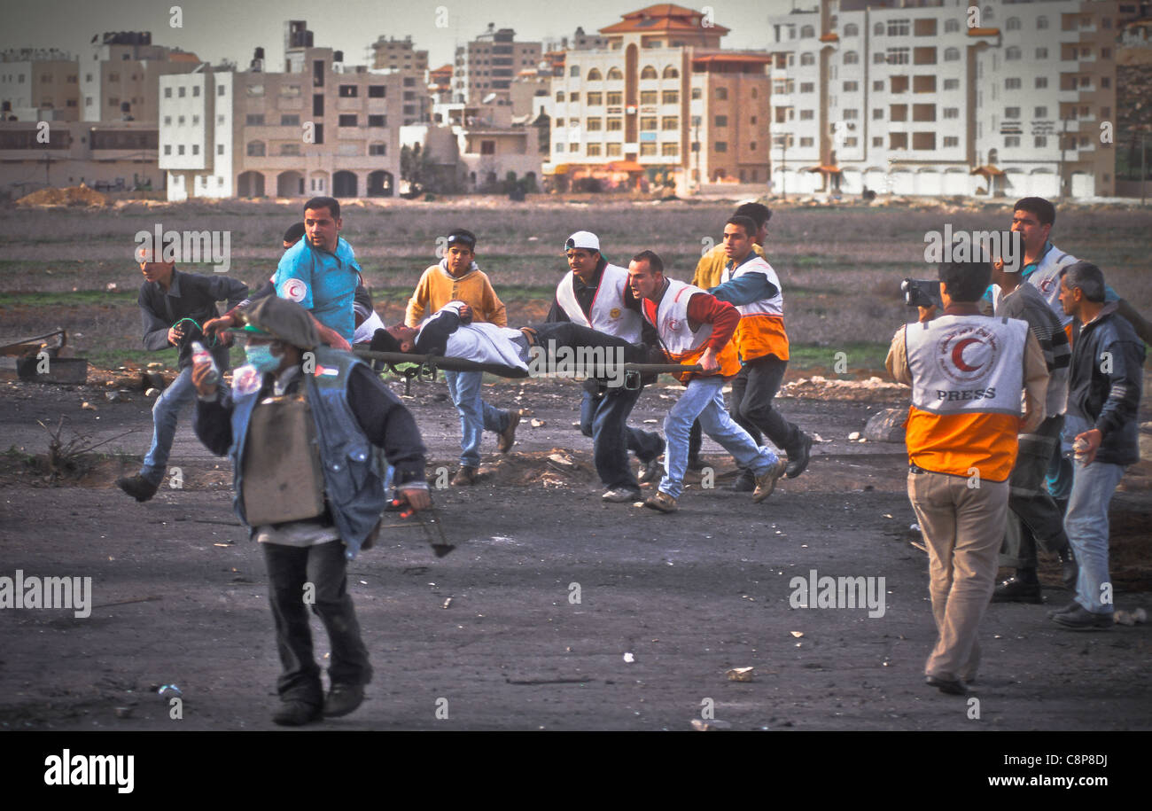 RAMALLAH Friday of Intifada, Gunshot - Stock Image