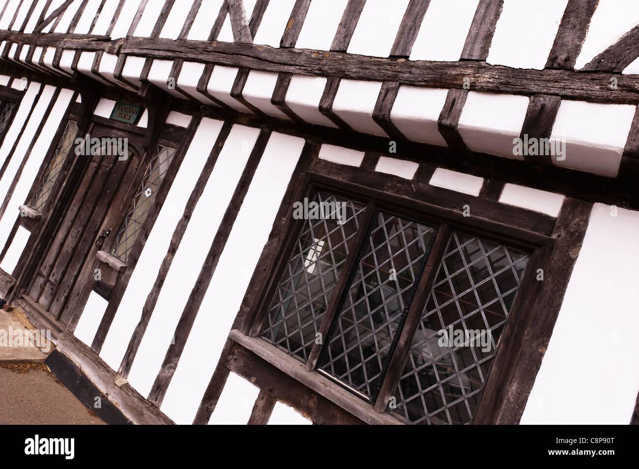 A Tudor house in Lavenham , Suffolk , England , Britain , Uk Stock Photo