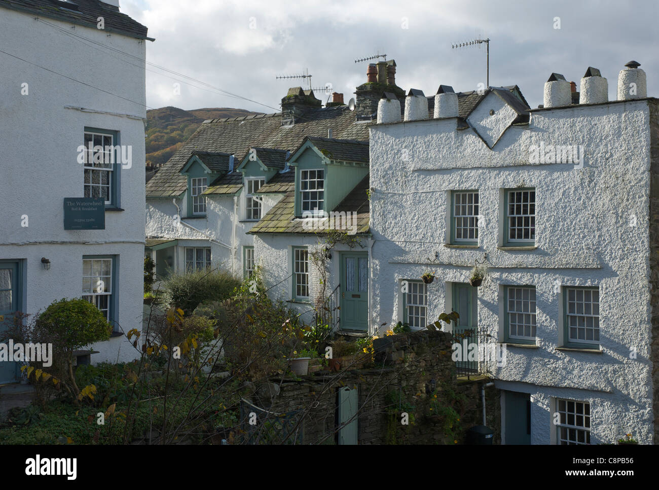 Houses in Ambleside, Lake District National Park, Cumbria, England UK - Stock Image
