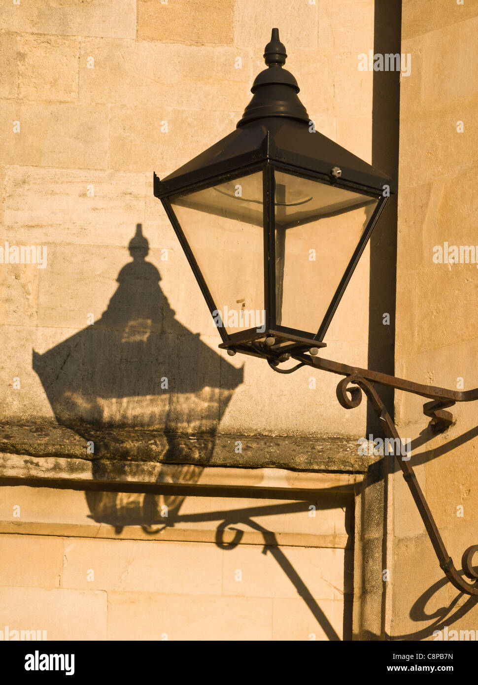Old street lamp Radcliffe Square Oxford UK - Stock Image