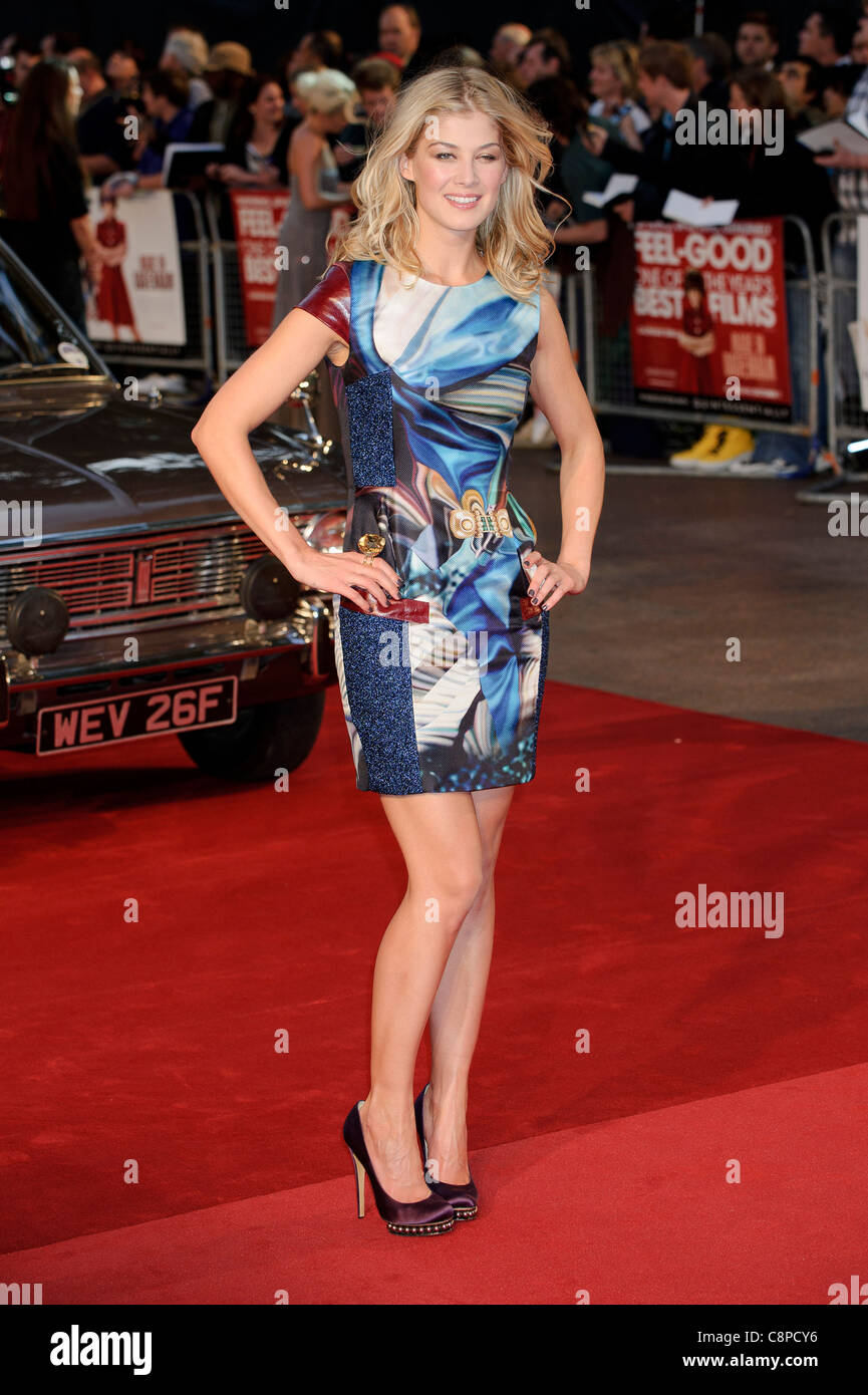 Rosamund Pike at the UK Premiere of 'Made in Dagenham', Leicester Square, London, 20th September 2010. - Stock Image