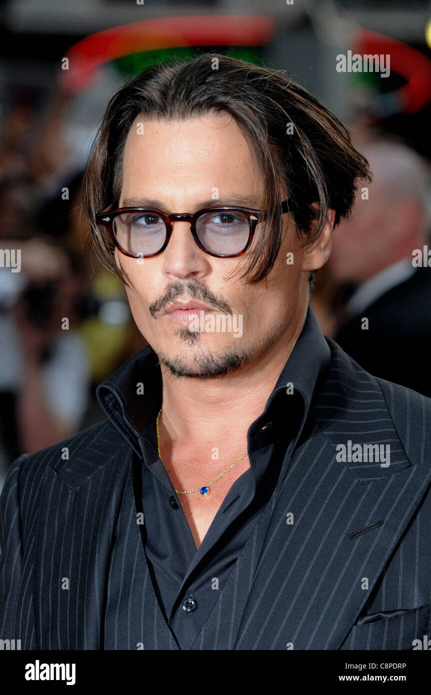 "Johnny Depp attends the UK Premiere of ""Public Enemies"" at Leicester Square, London, 29th June 2009. Stock Photo"