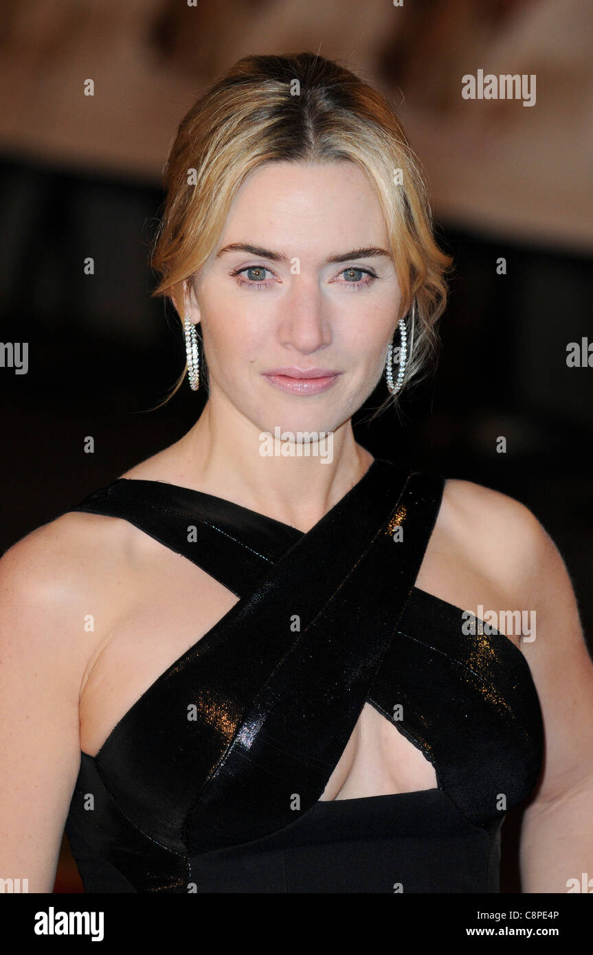 Kate Winslet arrives at the Revolutionary Road European premiere at Odeon, Leicester Square, London, 18th January - Stock Image