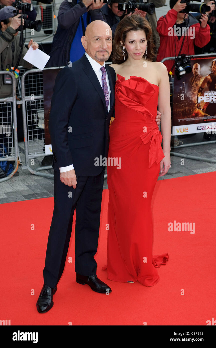Sir Ben Kingsley and Daniella Lavender at the World Premiere of 'Prince of Persia; Sands of Time' at VUE, - Stock Image