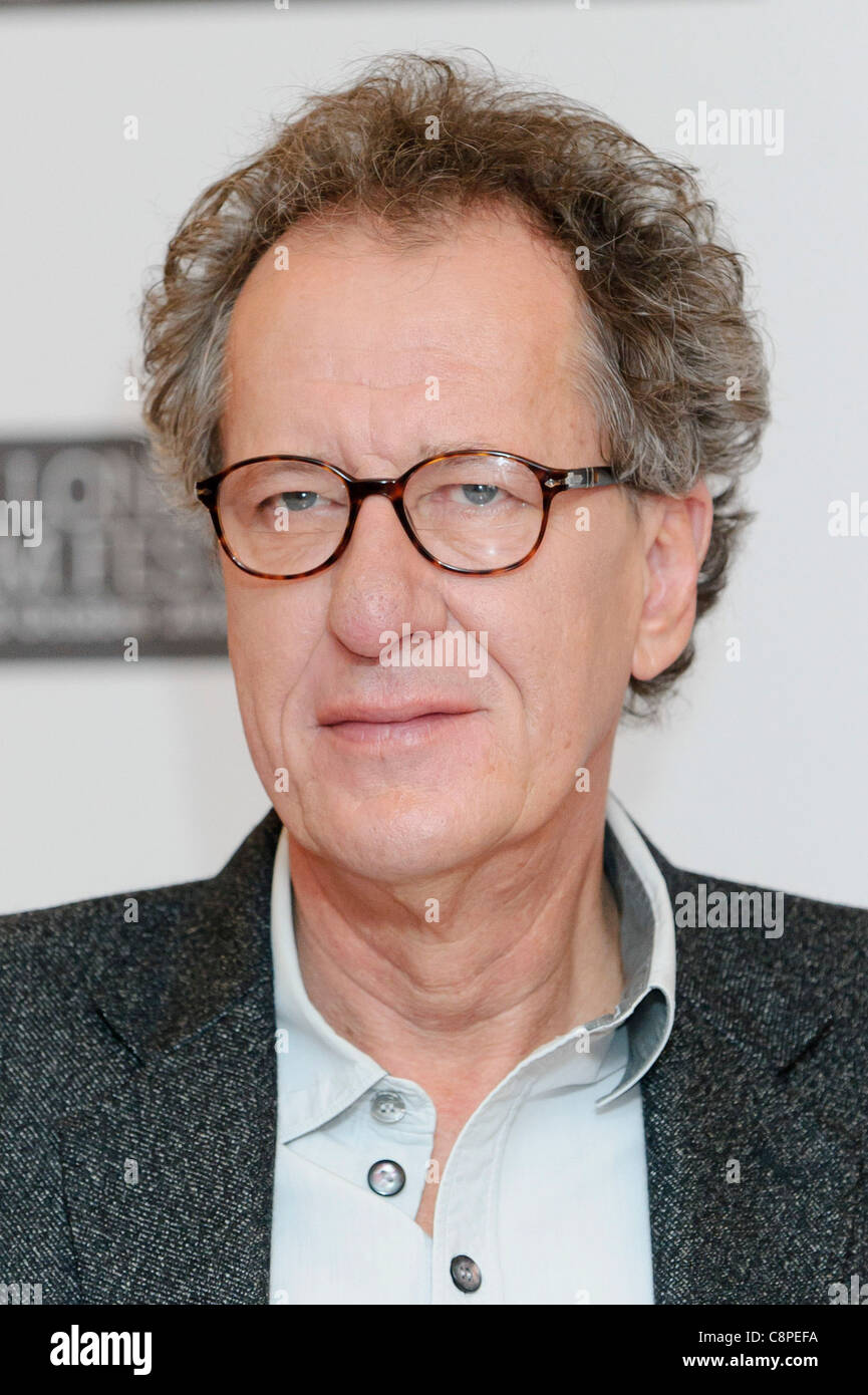 Geoffrey Rush attends the King's Speech photocall, at VUE, London, 21st October 2010. - Stock Image