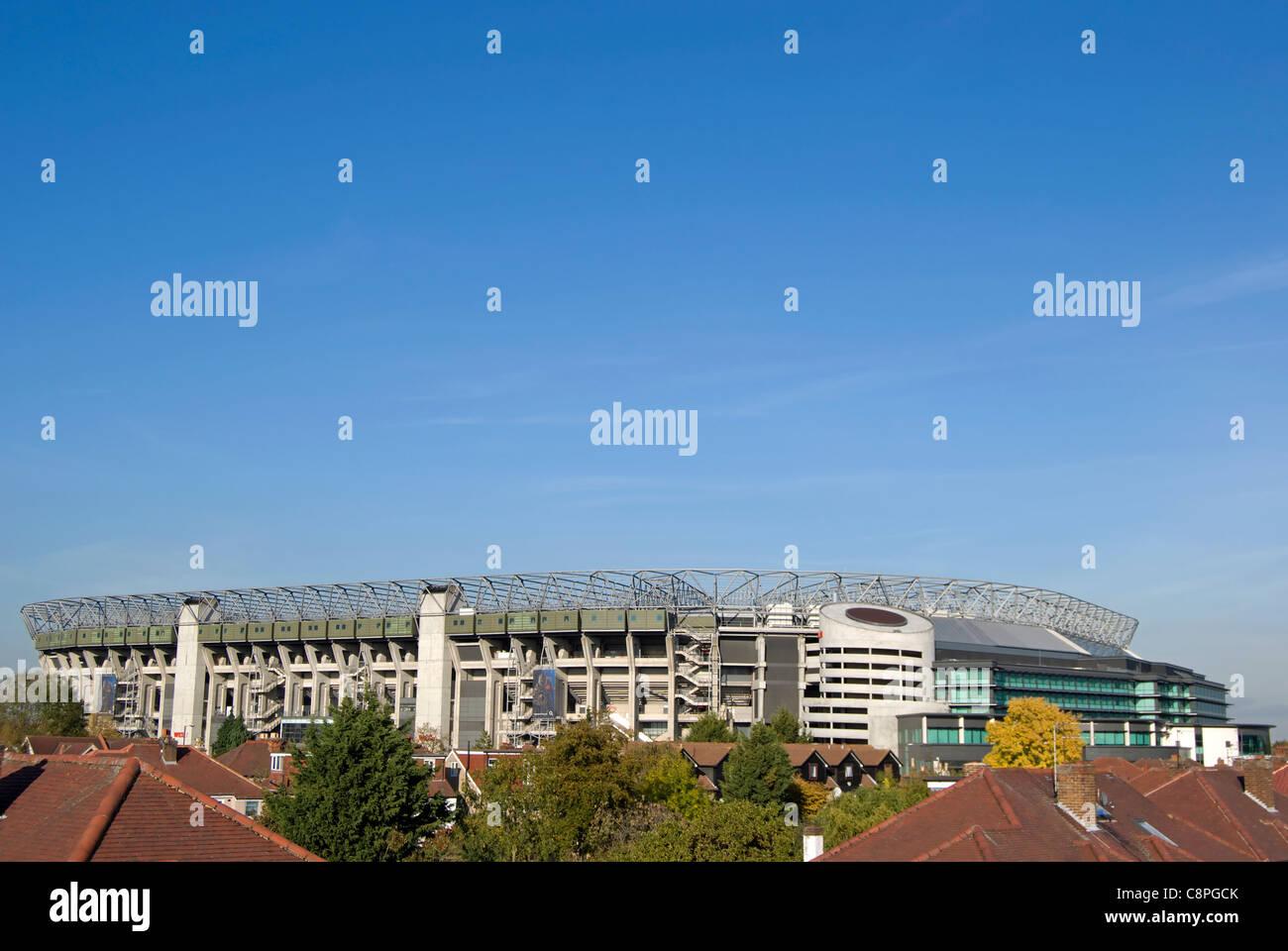 twickenham stadium, or rugby ground, twickenham, middlesex, england - Stock Image