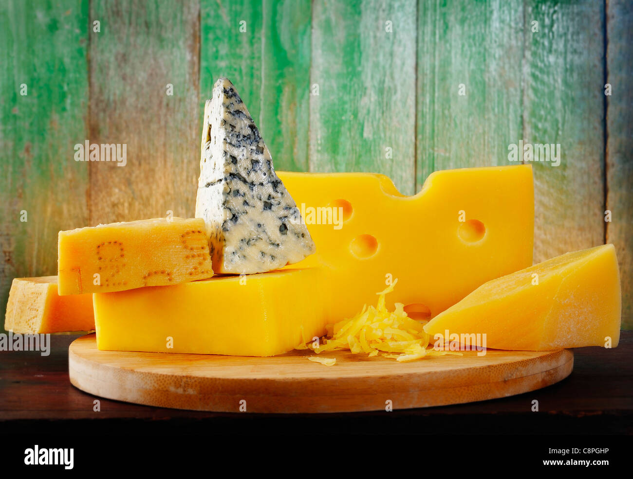 cheese on wood Stock Photo