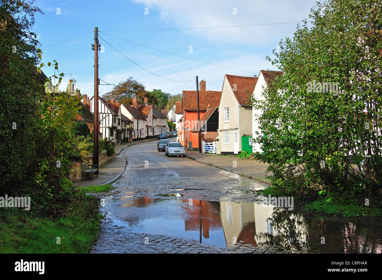 Kersey ford, The Street, Kersey, Suffolk, England, United Kingdom - Stock Image