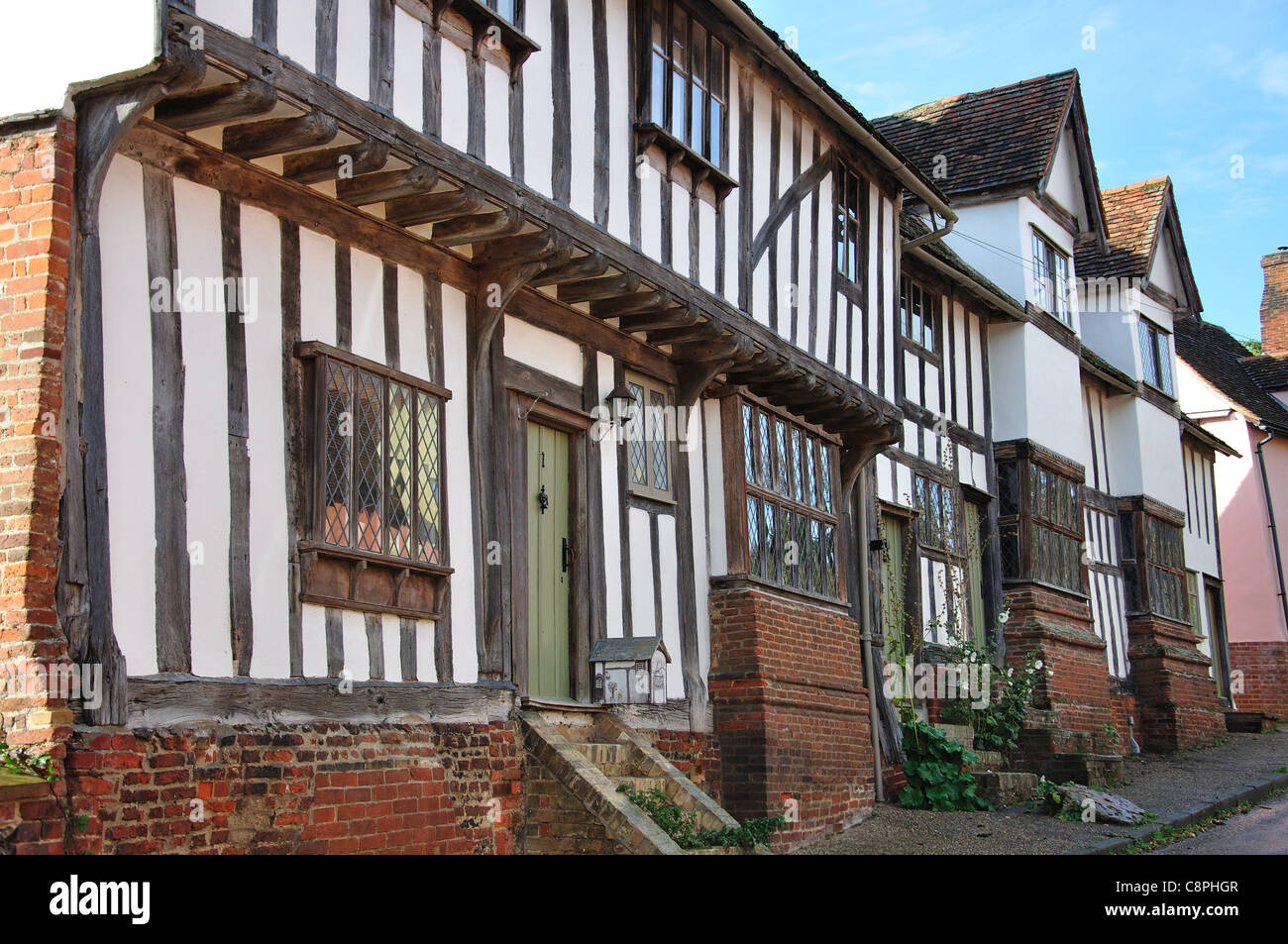 Period building on The Street, Kersey, Suffolk, England, United Kingdom - Stock Image