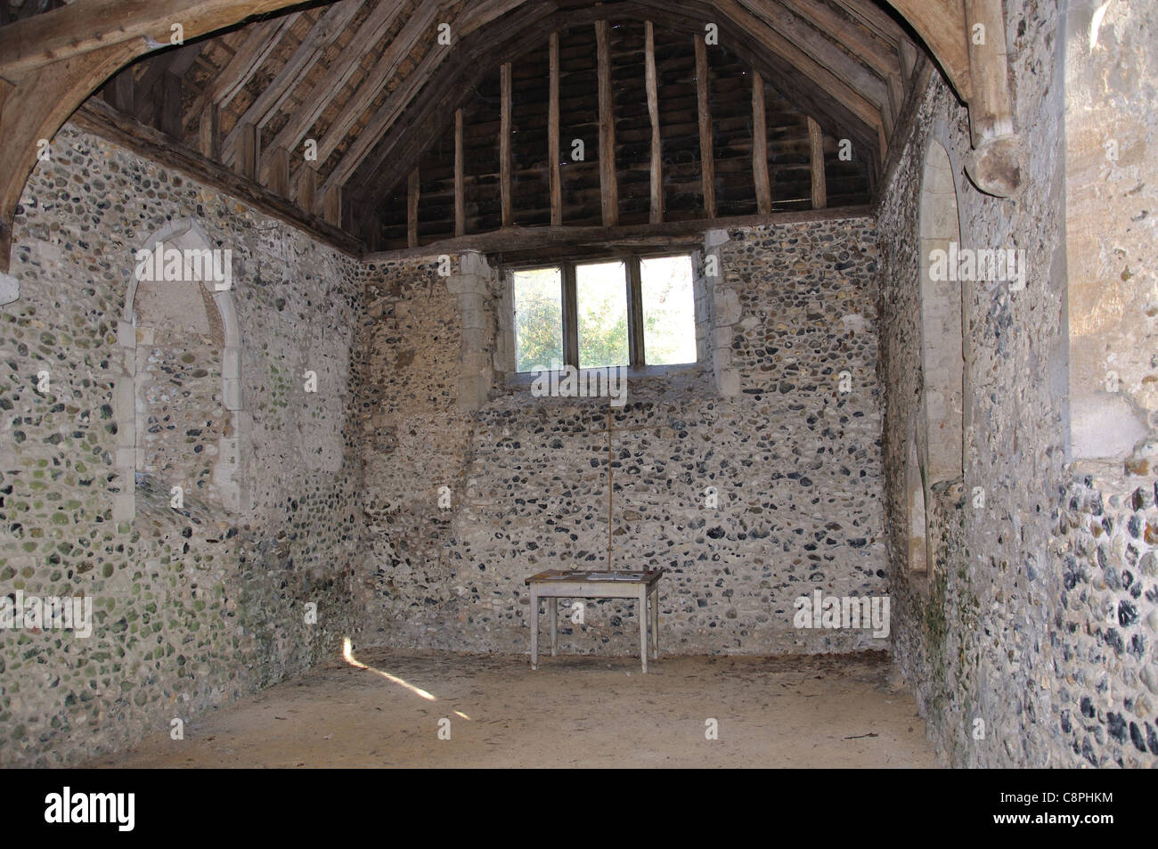 13th century St.James's Chapel, Lindsey, Suffolk, England, United Kingdom - Stock Image