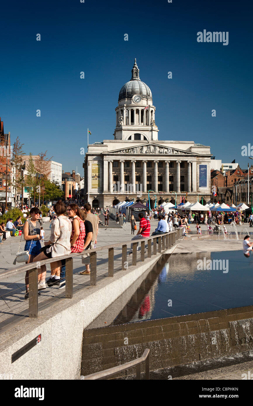 UK, Nottinghamshire, Nottingham, Old Market Square - Stock Image