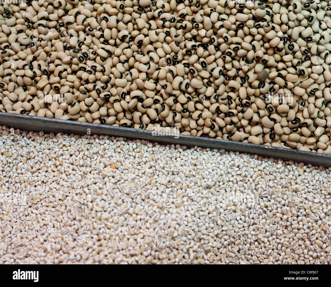 Beans and Groat . - Stock Image