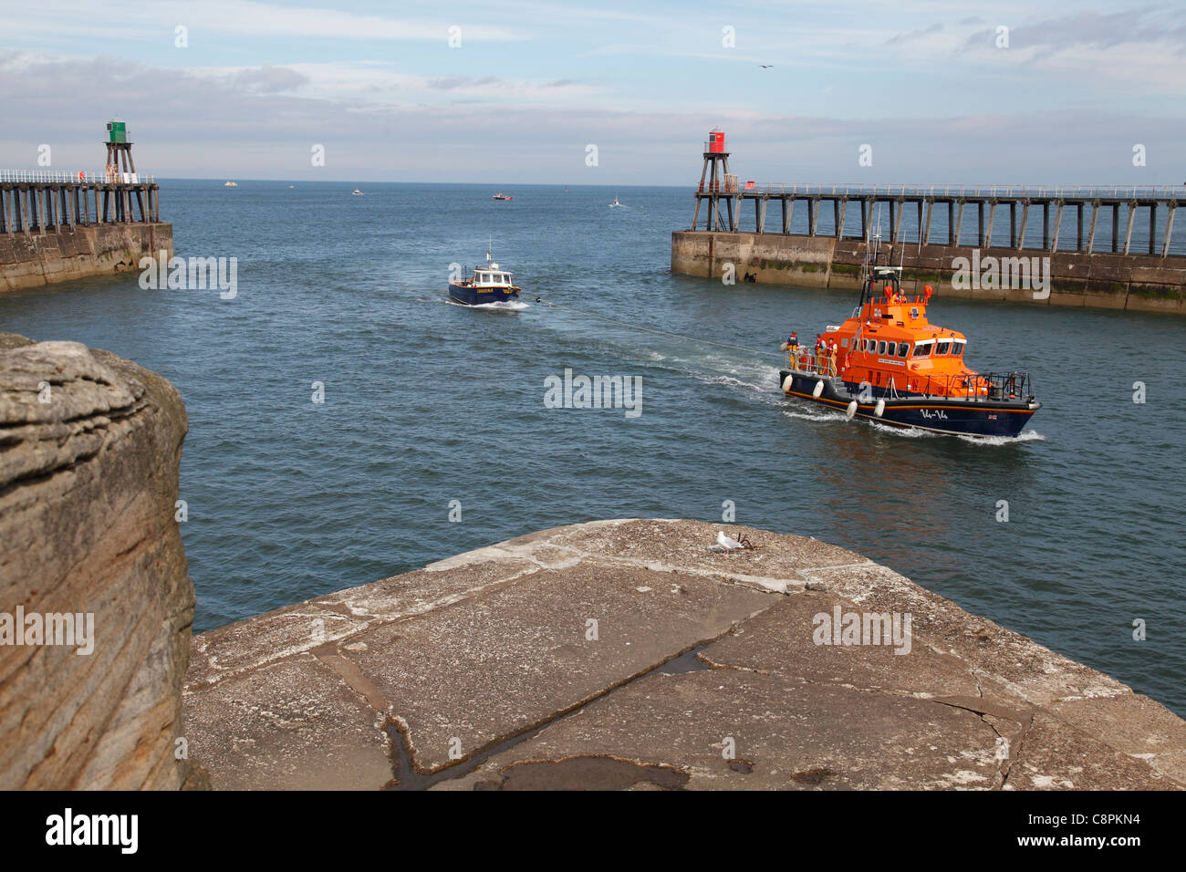 RNLI lifeboat 'George & Mary Webb'  Whitby, North Yorkshire, England, U.K. Stock Photo