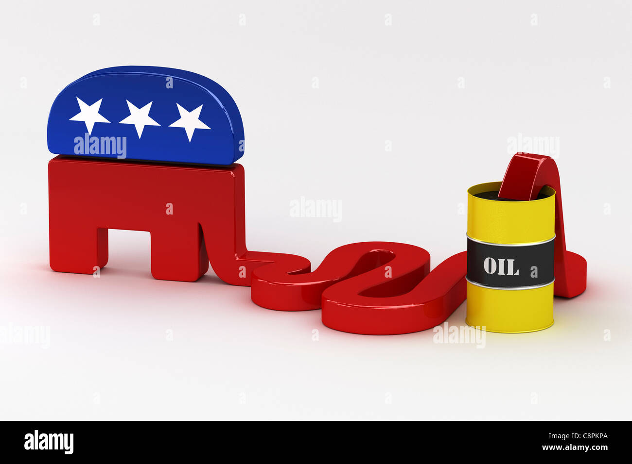 Oil hungry Republicans - Stock Image