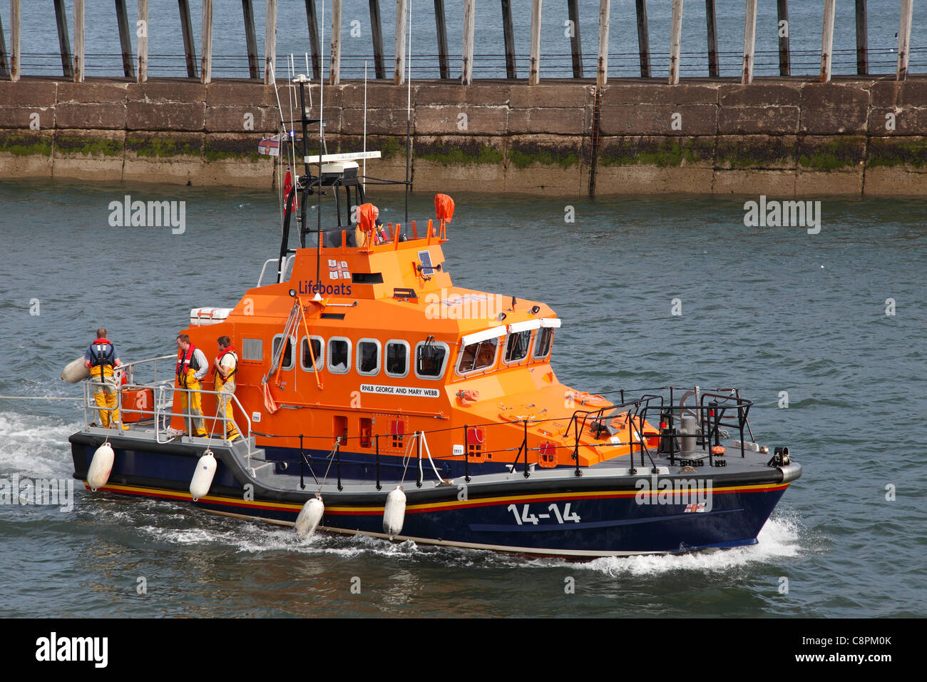 RNLI lifeboat 'George & Mary Webb'  Whitby, North Yorkshire, England, U.K. Stock Photo