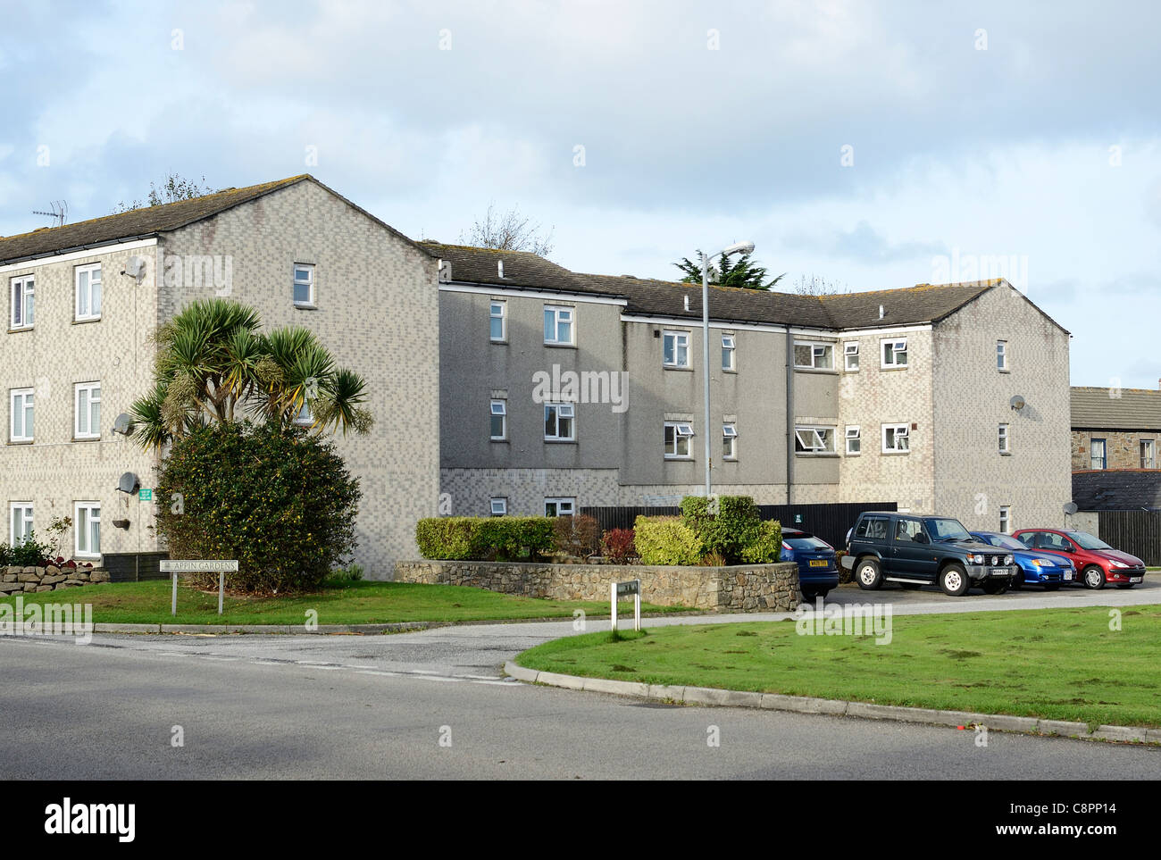 affordable housing in redruth, cornwall, uk - Stock Image