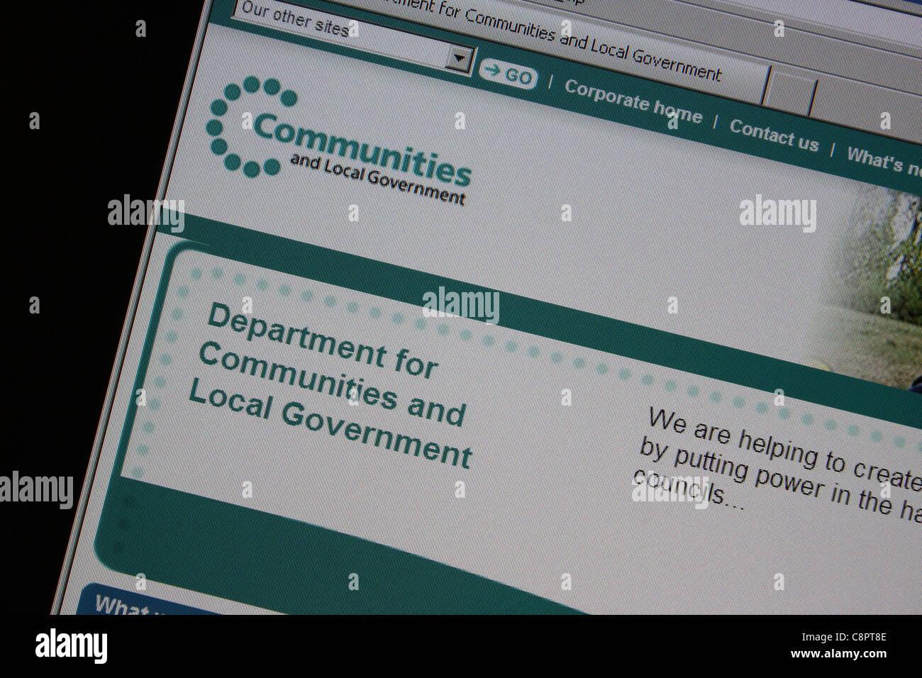 DCLG website - Stock Image