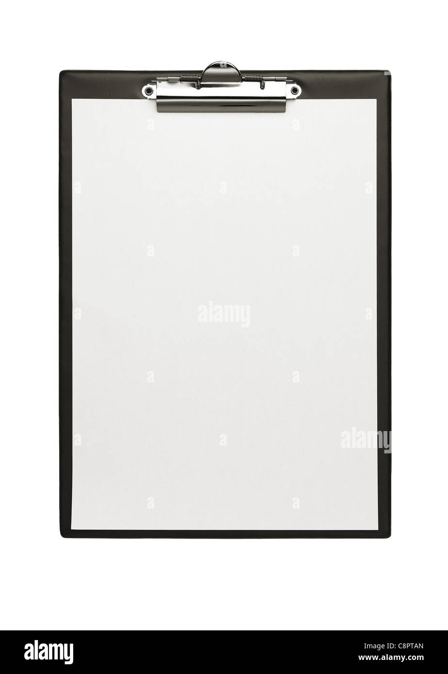 Blank clipboard with isolated with clipping path - Stock Image