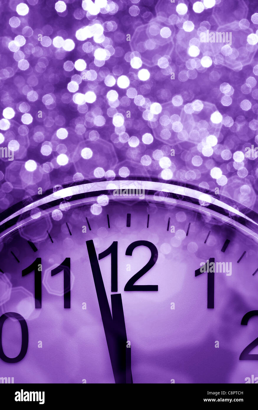 New Year's countdown with copy space - Stock Image
