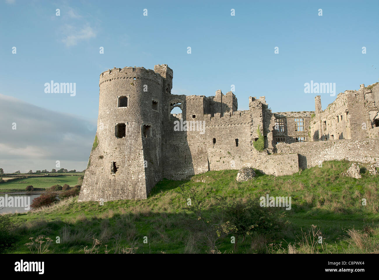 Great Britain, Wales, Pembrokeshire, Carew, Carew Castle - Stock Image