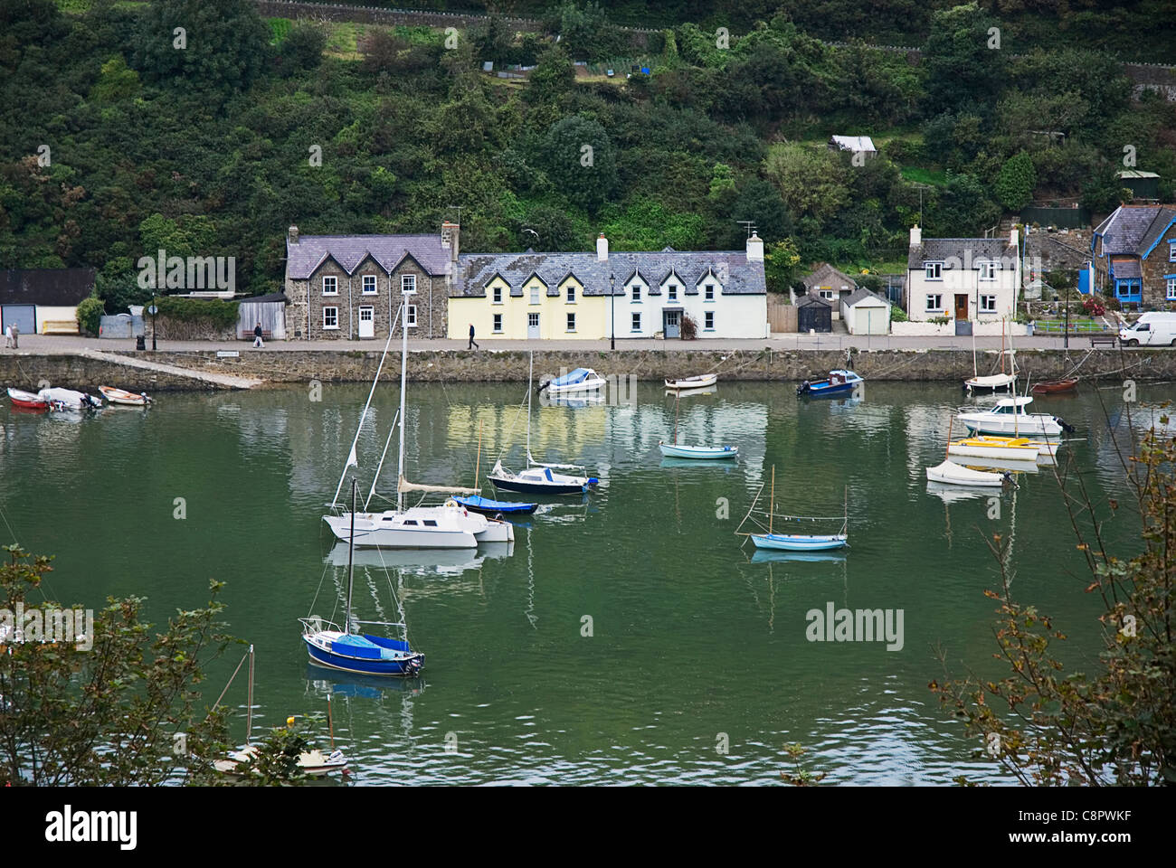 Great Britain, Wales, Pembrokeshire, Fishguard, Lower Fishguard on the River Gwaun - Stock Image