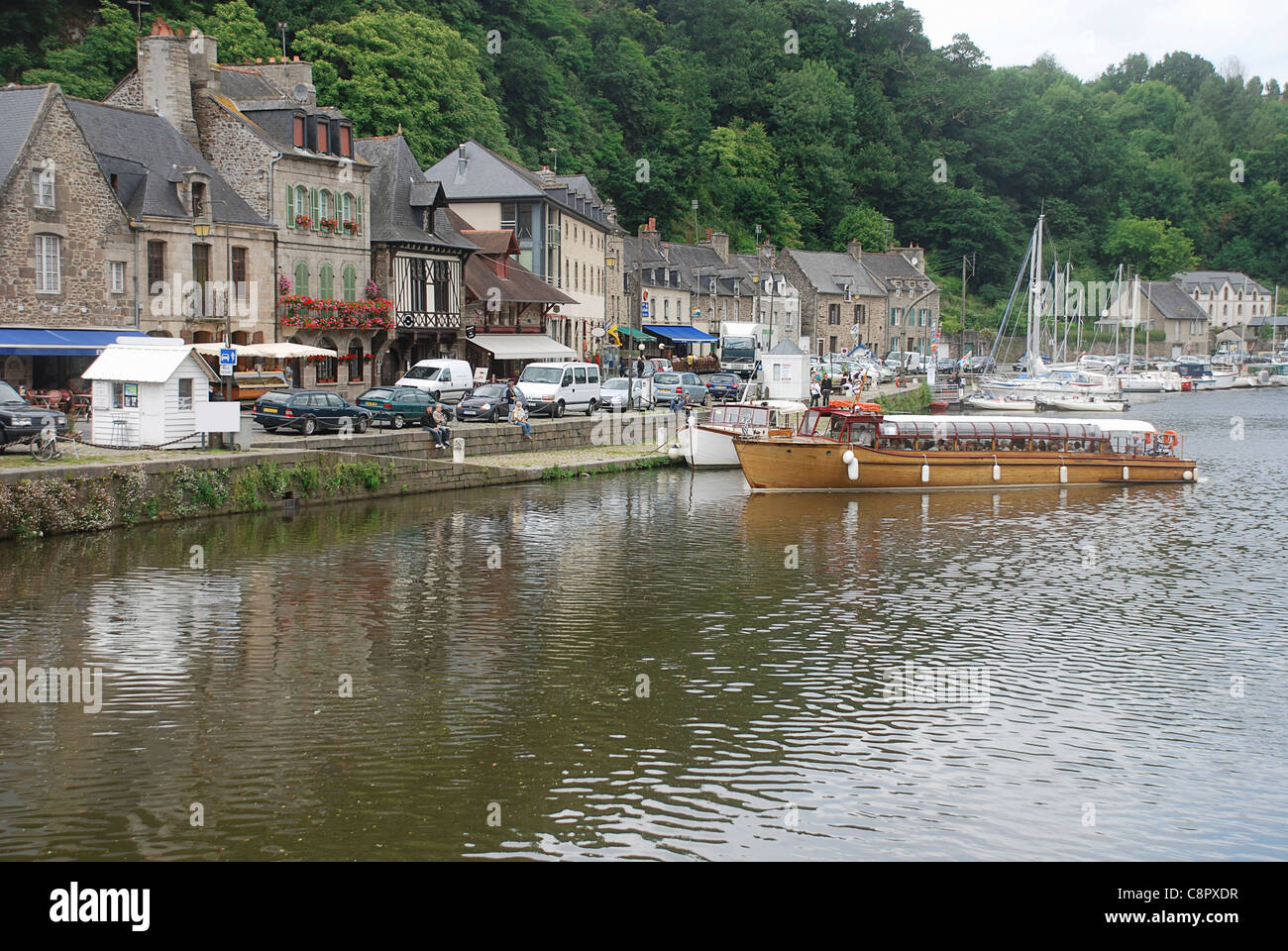 France, Brittany, Dinan, River Rance Stock Photo