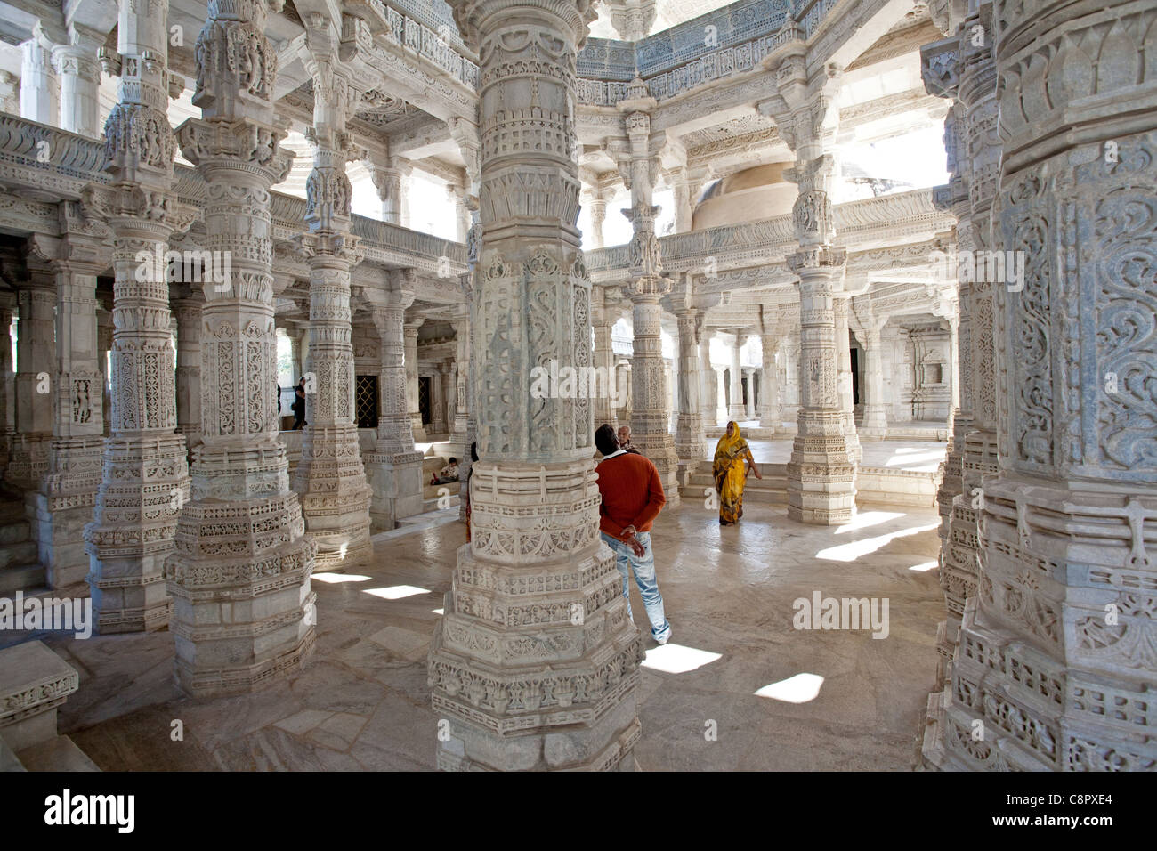 Ranakpur Jain Temple Near Udaipur Rajasthan India Stock