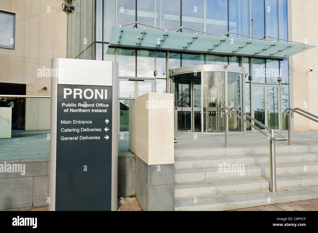 Public Records Office for Northern Ireland (PRONI) new premises in Belfast - Stock Image