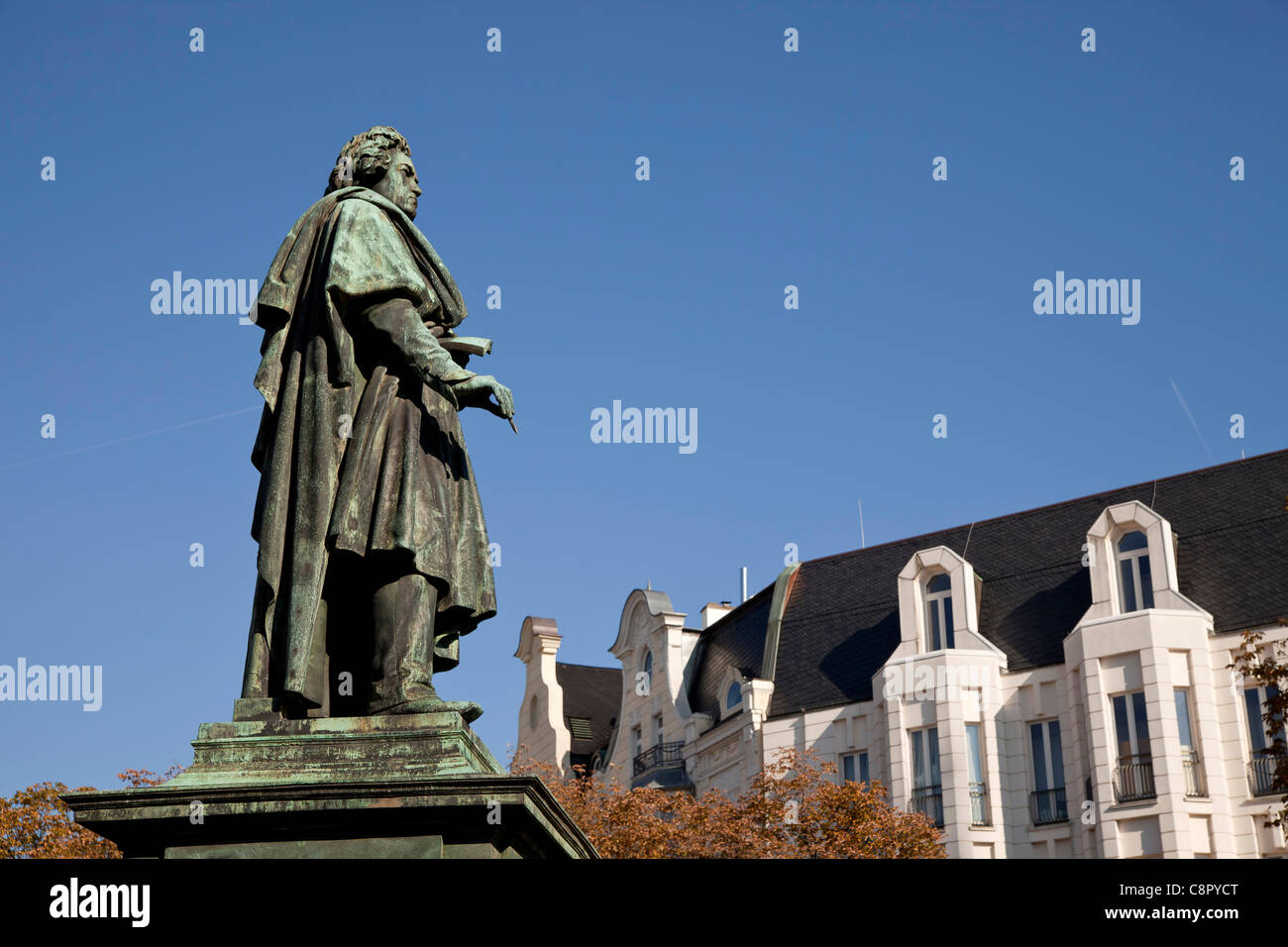 Beethoven monument on Muenster square in Bonn, North Rhine-Westphalia, Germany, - Stock Image