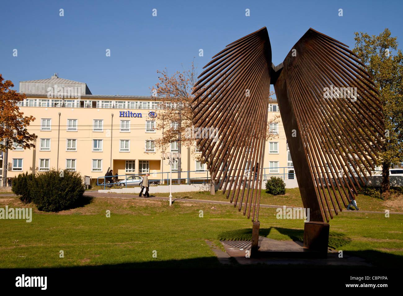Hotel Hilton in Bonn, North Rhine-Westphalia, Germany, - Stock Image