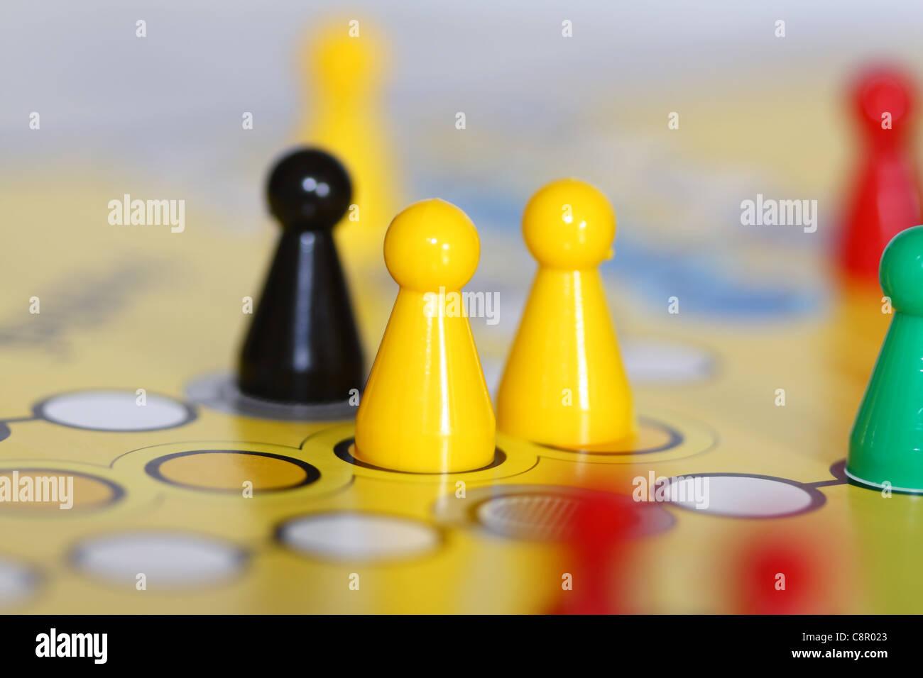 Board figures - Stock Image