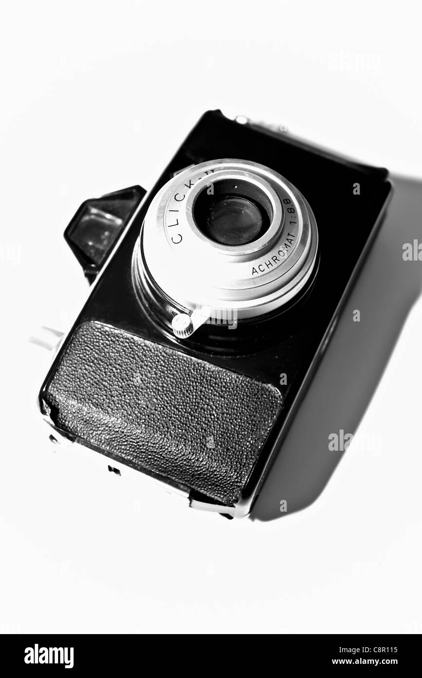 old camera close-up in a panel format - Stock Image