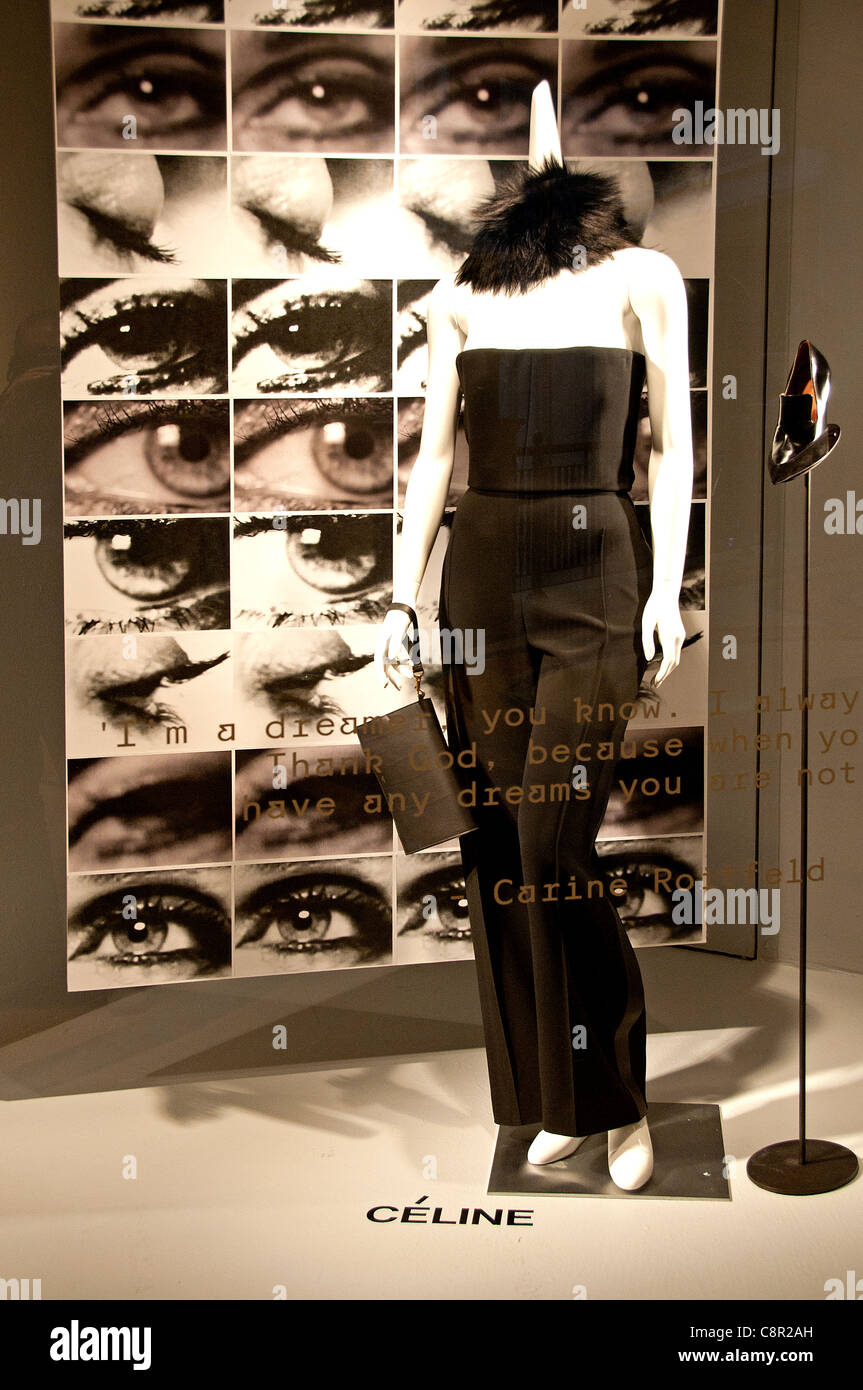 296d937e5bf5 Celine France French fashion shop display window United states of America -  Stock Image