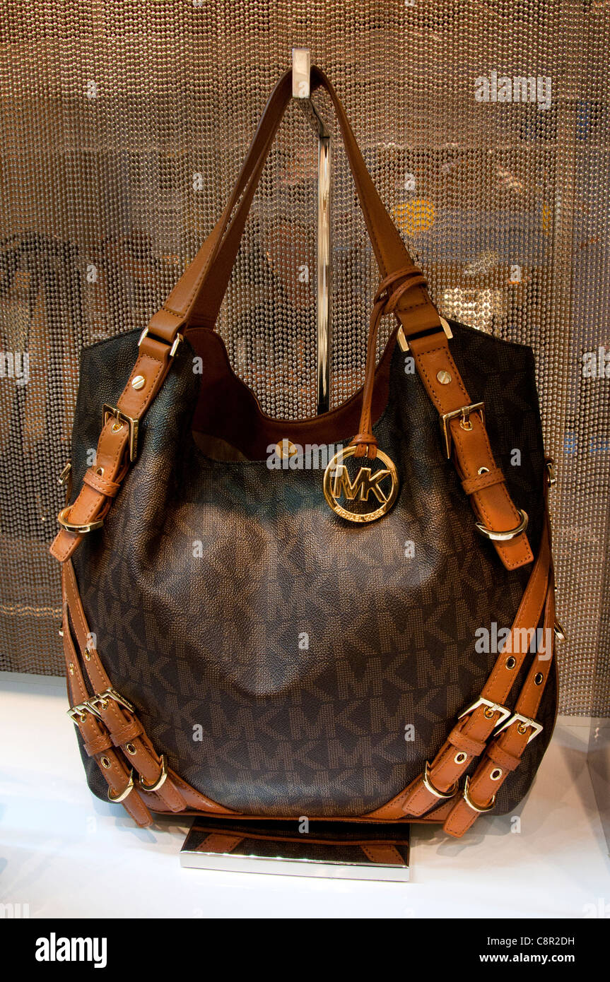 722937b53aef Bag Bags Michael Kors New York shop display window United states of America  - Stock Image