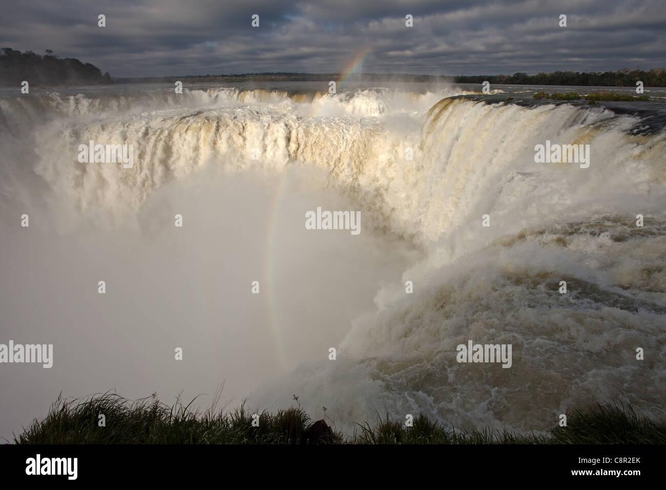 Iguazu Falls: The Devil's Throat - Stock Image