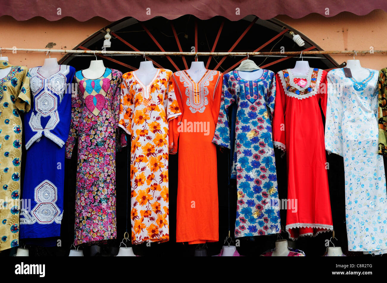 3ba28d4bfc2b8 Moroccan Women's Dresses for Sale, Ouazazate, Morocco Stock Photo ...