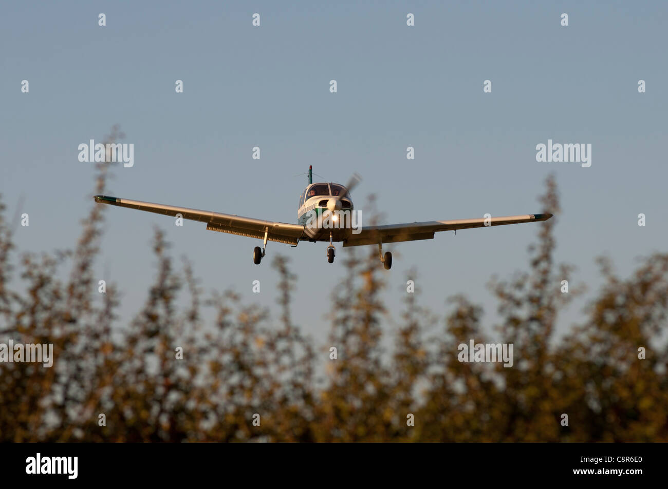 Low flying light aircraft - Stock Image